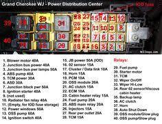 1999 2004 jeep grand cherokee overhead console dome light digital jeep grand cherokee fuse box diagram