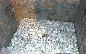 rock shower floor river rock tile shower best of river rock tile pebble tile shower floor