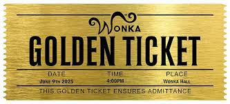 Image result for charlie and the chocolate factory golden ticket | Chocolate  factory, Golden ticket, Diy gifts for kids