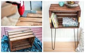 wooden crate furniture. Wooden Crate End Table Wood Furniture H Coffee Ideas .