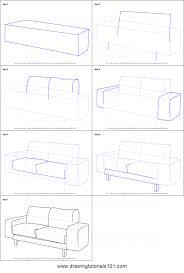 back of a couch drawing. how to draw a couch printable step by drawing sheet : drawingtutorials101.com back of