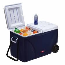 75 qt blue wheeled cooler