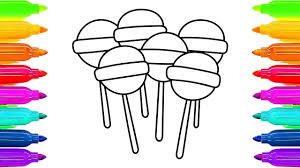Small Picture Lollipop Coloring Pages for Childrens How to Draw Candy Canes