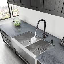 endearing 60 40 kitchen sink and vigo alma 33 inch farmhouse a 6040 double bowl 16