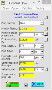 Compressed Air Pipe Size Cfm Chart Pin On Pressure Drop