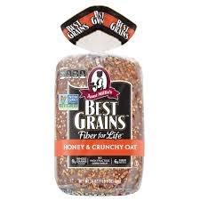 Aunt Millie S Light Whole Grain Bread Nutrition Aunt Millies Best Grains Non Gmo Bread Honey Crunchy Oat