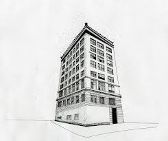 perspective drawings of buildings. Delighful Buildings 3 Point Perspective Drawing And Drawings Of Buildings