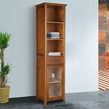 wood storage cabinets. the oak-finish linen tower bathroom storage cabinet with doors! your clothing from theses wood cabinets