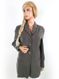 Details About Paul Costelloe Womens Usa Size 10 38 Blazer Pockets Beige Wool