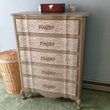 Painted Furniture Bedroom Diy Lace Painted Bedroom Set Weekend Craft