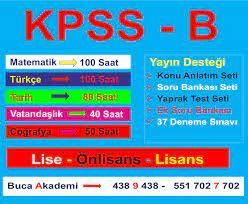 KPSS-B (LİSANS )KURSLARI