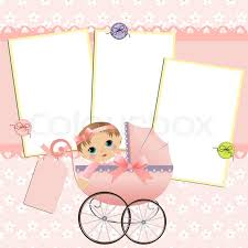 Cute Template Cute Template For Babys Arrival Stock Vector Colourbox