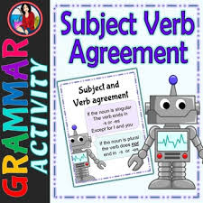 Subject And Verb Agreement Anchor Chart Subject Verb Agreement Center Activity