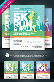 Flyer Poster Templates 5k Run Walk Event Flyer Poster Corporate Identity Template