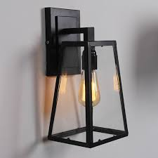 nordic american country outdoor balcony bedroom restaurant creative glass box iron restaurant hotel bar wall light lamp lights in wall lamps from lights