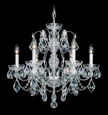 schonbek 1705 26 century 6 light crystal chandelier in french gold with clear heritage crystal