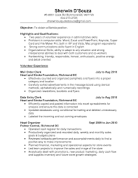 Resume Objective Examples Clerk Resume Objective shalomhouseus 62