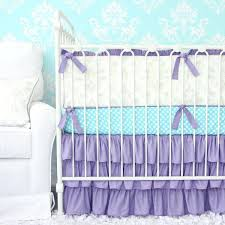purple nursery bedding lovely damask crib set baby girl sets