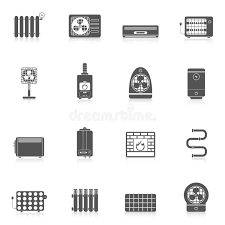 heating cooling icon. download heating and cooling black stock vector - image: 47192649 icon