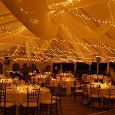 outside wedding lighting ideas. i really want an outsidetent wedding so pretty outside lighting ideas