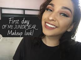first day of my junior year makeup look xoxoembeauty