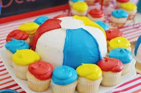 Beach Ball Cake Decorations Stunning Kara's Party Ideas Beach Ball Themed Birthday Party