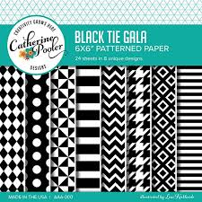 Patterned Paper Gorgeous Black Tie Gala Patterned Paper By Catherine Pooler Designs
