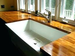 grey wood countertop stained wood wood kitchen counter inspiration