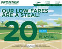 frontier airlines promotional code 2018