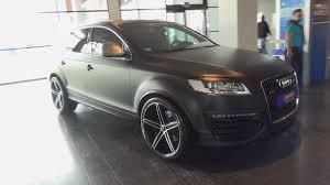 matte black audi a7. audi q7 matt black oxigin wheels spotted tuning world bodensee 2014 youtube matte a7 s