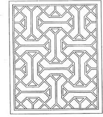 geometric coloring pages for kids. Plain Pages Geometric Shapes Cartoon Coloring Page  Stencil Pattern For TopSides Of  Accent Dresser PagesPrintable  In Pages For Kids