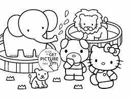 Small Picture Pages Animals Coloring Pages Printable Kindergarten Zoo Zoo Animal