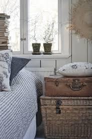 Bedroom Furniture Wicker Nightstand Suitcase Beach House Interiors