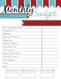 Free Printable Budget Best Photos Of Free Printable Budget Worksheets Monthly Bill Free