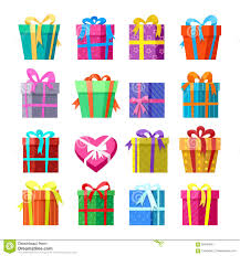 Design Pack Gifts Gifts Or Presents Boxes Icocns Set Stock Vector