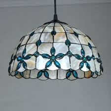 stained glass hanging light stained glass hanging new shell pendant lamp retro stained glass hanging light stained glass