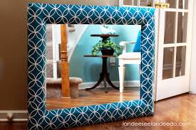 diy painted mirror frame. Mirror Frame Redo. Paint Then Add Vinyl For A Great Design. Diy Painted