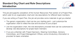 Standard Org Chart Standard Org Chart And Role Descriptions Introduction Ppt