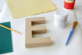 how to make diy wood letters with mod podge and sbook paper