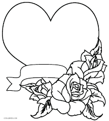 Coloring Page Of A Heart Coloring Page Of Heart Heart With Wings