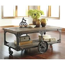 cart coffee table factory cart coffee table in gray and brown cart coffee tables pottery barn cart coffee table