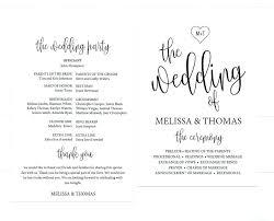 Wedding Programs Template Free Simple Wedding Program Template Phenomenal Examples Free One