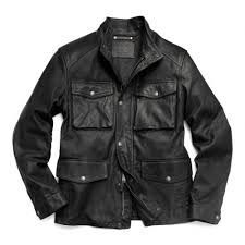 lyst coach light weight harrison leather field jacket in black for men jpg 1000x1000 leather m65