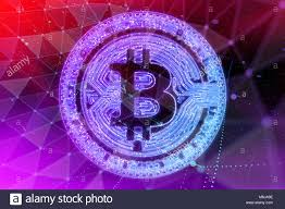 Bitcoin Coin In Fire With Bull Trading Stock Chart Cash