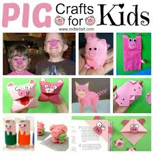 Pig Crafts for Kids for farmyard crafts and fairt tales - Red Ted Art