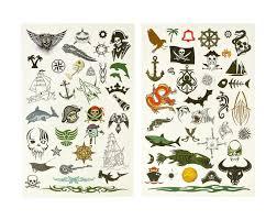 набор временных тату Bondibon тату арт морские пираты вв1949