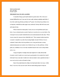 Scholarship Essay Example About Yourself Biography Of Myself Autobiography For Class Short Bio