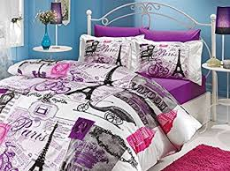 100 cotton bedding sets.  100 Deconation 100 Cotton Comforter Set Single Twin Full Size Paris Eiffel  Tower Vintage Purple Bedding For 100 Sets D