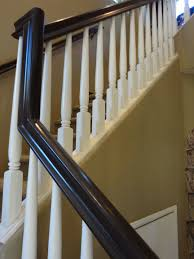Painted Stairs Stair Railing Painting Update Stair Railing Stair Case And