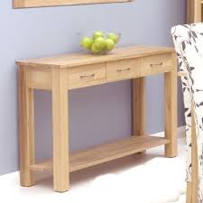 mobel oak console table. Solid Oak Console Table With Drawers - Mobel